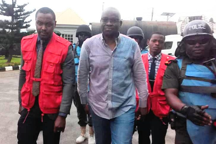 EFCC arraigns Fayose in Lagos court